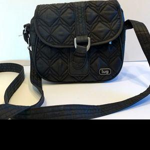 Lug Crossbody Bag Purse Midnight Black Quilted